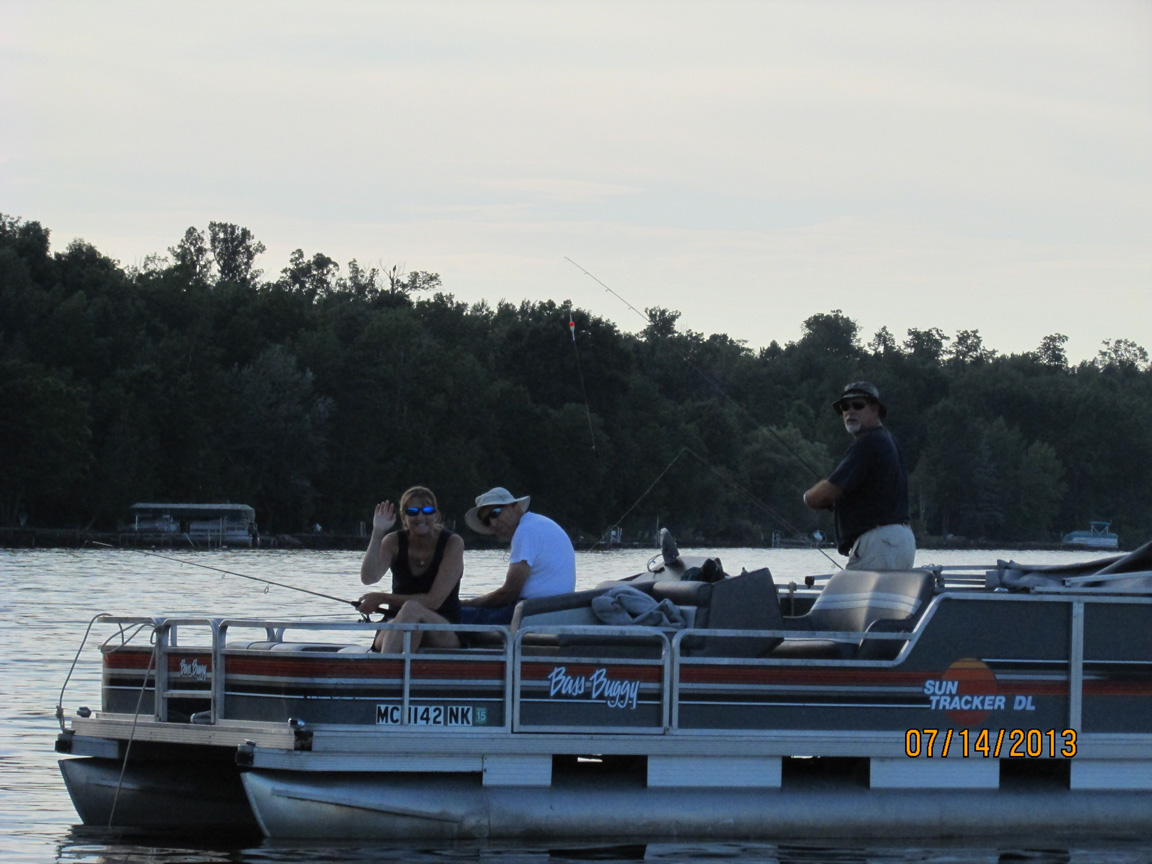 Fishing from the Pontoon