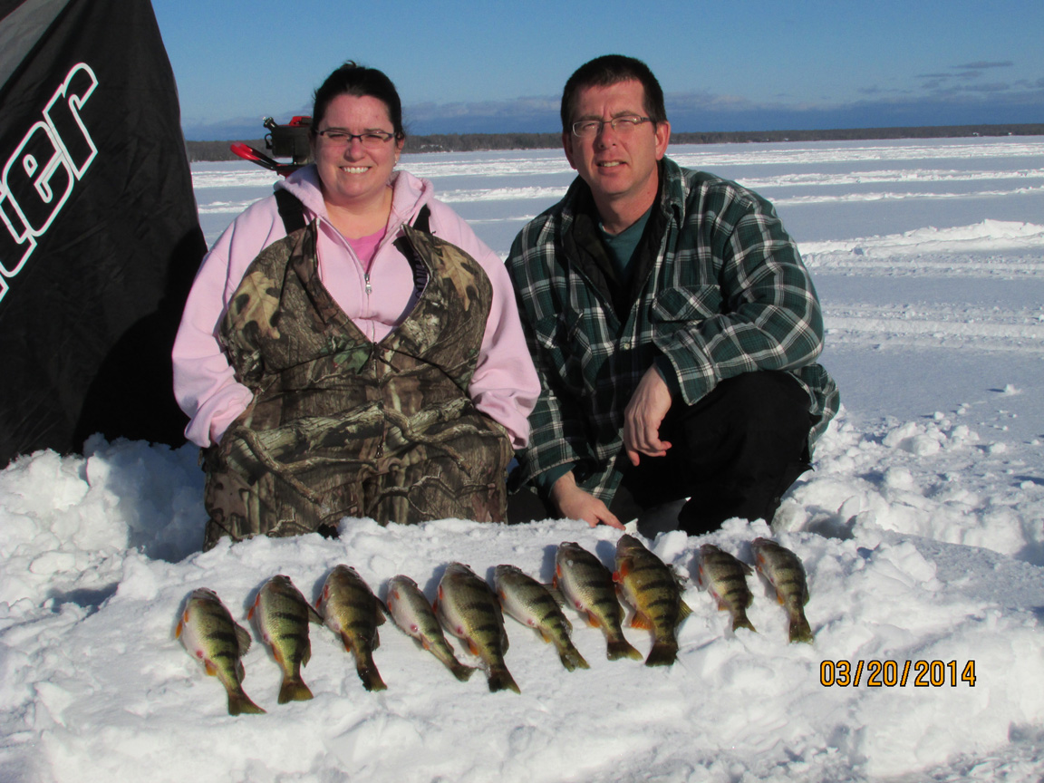 Ice Fishing on Lake Gogebic